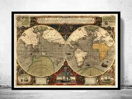 antique map world world map antique 1595 maps and vintage prints