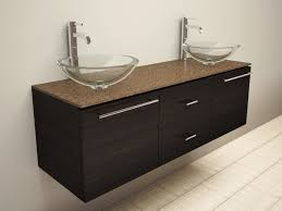 Sink Top Vanity Bathroom Modern Stylist Bathroom Design With Dark Brown Wall