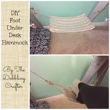 How To Make A Chair Hammock The Dabbling Crafter Diy Sunday Diy Foot Under Desk Hammock