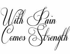 with my pain comes strength tattoo designed using tattoogen com