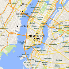 New York City Area Map by Vectormap Twitter Search