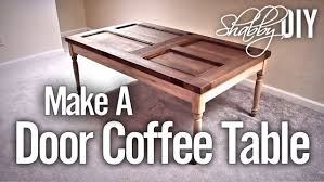 How To Make A Coffee Table by Make A Coffee Table From An Old Door Youtube