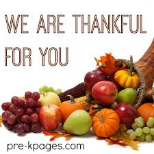 we are thankful for you pre k pages