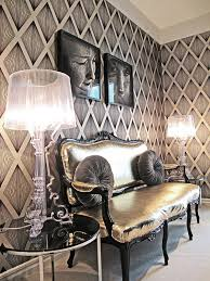 metallic home decor metallic accents decor fabric tiles for chic interiors
