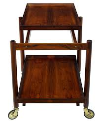danish rosewood serving table trolley by poul hundevad ebay