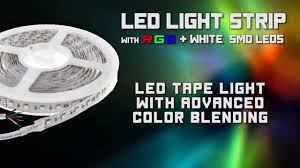 led light strip with rgb plus white advanced color blending using