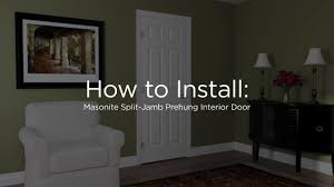 Install Interior Prehung Door by Installation And Care For Masonite Residential Doors