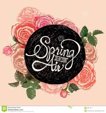 think spring quotes stock vector image 39100223