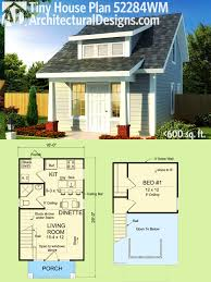 Home Plan Design 600 Sq Ft Plan 52284wm Tiny Cottage Or Guest Quarters Tiny House Plans