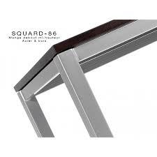 vernis table cuisine table haute design square 4 pieds finition chêne cuisine