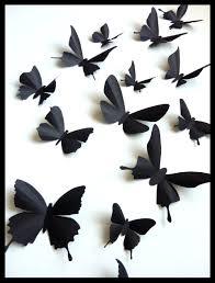 3d wall butterflies 15 assorted black butterfly silhouettes