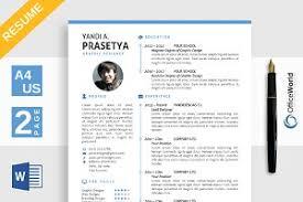 baller simple resume cv ms word resume templates creative market