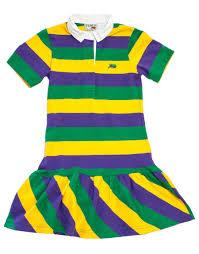 perlis mardi gras polo mardi gras rugby stripe dress tuesday