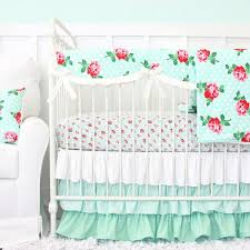 lucy u0027s mint rose baby bedding caden lane