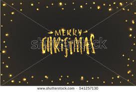 creative shiny gold merry christmas card stock vector 541257136