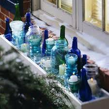 Ideas For Window Decorations At Christmas by Christmas Window Decorations Put Bottles And Candles In Your