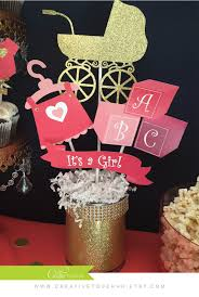 it s a girl baby shower decorations baby shower centerpieces its a girl coral gold by creativetouchhh