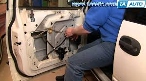how to install replace manual window regulator dodge caravan 96 00