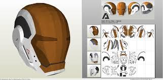 papercraft pdo file template for iron man mark 39 gemini helmet