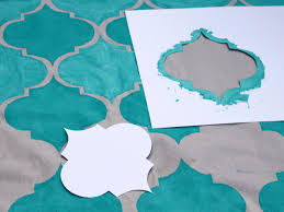 Painted Rug Stencils How To Stencil Paint An Outdoor Rug How Tos Diy