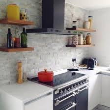 kitchen feature wall ideas white split mosaic tiles large kitchen feature wall kitchen