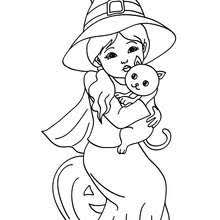 scary witch face coloring pages hellokids