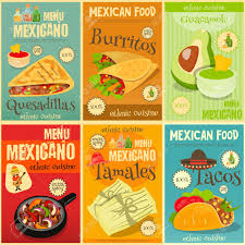 posters cuisine food menu mini posters set with traditional spicy meal