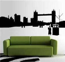 wall stickers sticky addiction doctor who city outline whovian 23