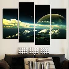 popular large canvas posters buy cheap large canvas posters lots home decor modular pictures 4p the earth map from the space poster large hd canvas painting