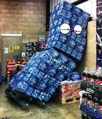 how much does a pallet of bud light cost the new guy was left by himself for 5 mins pics