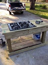 Outdoor Patio Kitchens by Best 25 Outdoor Stove Ideas On Pinterest Outdoor Kitchens For