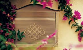 Whitehall Wall Mount Mailbox Residential Mailboxes Elegant Mailboxes Architectural Mailboxes