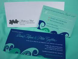 wedding invitations jamaica blue turquoise waves plumeria flower jamaica map wedding