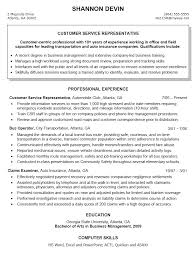 Customer Service Resumes Examples by Charming Example Resume Objectives