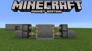 Minecraft Secret Bookshelf Door Secret Door Tutorial 1 0 3 Redstone Creation Minecraft Pe