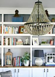 World Market Hutch A New Beaded Chandelier From Thrifty Decor