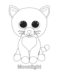 ty beanie boo coloring pages download print free aniver