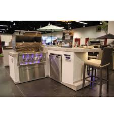 Bar Counter L Shape Elegant Bbq Island W Bar Counter Outdoor Furniture