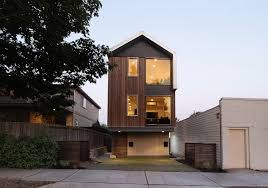 modern home design narrow lot contemporary and practical urban duplex unit in seattle freshome com