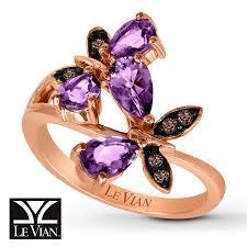 14k gold large diamond amethyst jared levian amethyst butterfly 1 20 ct tw diamonds 14k gold ring
