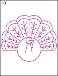 25 turkey drawing ideas free hand designs