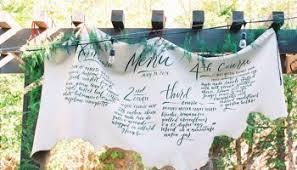 idee menu mariage idée présentation de votre menu de mariage