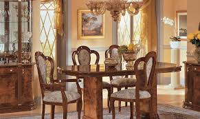 Italy Dining Table Esf Milady Walnut Classic Italian Dining Table Set 7pcs Made In