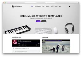 free webpage templates html 18 best responsive html5 music website templates 2018 colorlib