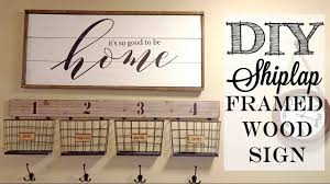 diy shiplap framed wood sign piecing together stencils youtube