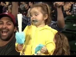 Yellow Raincoat Girl Meme - little girl has sugar rush at mariners game youtube