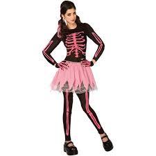 pink punk skeleton halloween costume walmart com