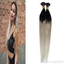 i tip hair extensions t1b silver gray hair extensions 100s human hair fusion extensions
