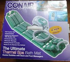 conair deluxe thermal spa bath mat with remote and