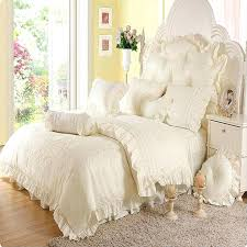 Quilted Duvet Cover King 4 6pcs Jacquard Princess Bedding Set Queen King Size Lace Ruffles